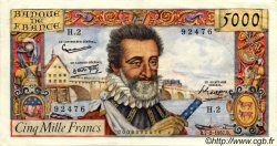 5000 Francs HENRI IV FRANCE  1957 F.49.01 TTB à SUP