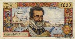 5000 Francs HENRI IV FRANCE  1957 F.49.04 pr.TTB