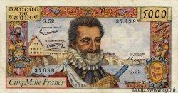 5000 Francs HENRI IV FRANCE  1958 F.49.06 TTB