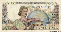 10000 Francs GÉNIE FRANÇAIS FRANCE  1945 F.50.01 TB+