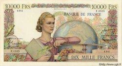 10000 Francs GÉNIE FRANÇAIS FRANCE  1951 F.50.51 TTB+