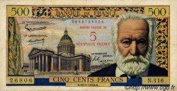 5 NF sur 500 Francs Victor HUGO FRANCE  1959 F.52.02 pr.TB