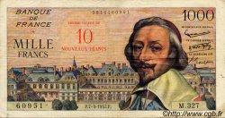 10 NF sur 1000 Francs RICHELIEU FRANCE  1957 F.53.01 pr.TTB