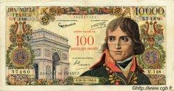 100 NF sur 10000 Francs BONAPARTE FRANCE  1958 F.55.01 pr.TTB