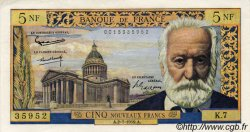 5 Nouveaux Francs VICTOR HUGO FRANCE  1959 F.56.02 pr.SUP