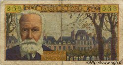 5 Nouveaux Francs VICTOR HUGO FRANCE  1960 F.56.05 B