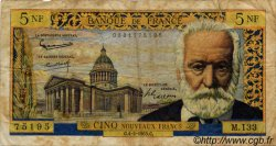 5 Nouveaux Francs VICTOR HUGO FRANCE  1965 F.56.17 B+