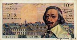 10 Nouveaux Francs RICHELIEU FRANCE  1959 F.57.01 SUP à SPL
