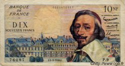 10 Nouveaux Francs RICHELIEU FRANCE  1959 F.57.01 TTB
