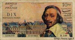 10 Nouveaux Francs RICHELIEU FRANCE  1960 F.57.12 B+