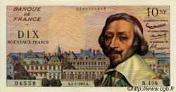 10 Nouveaux Francs RICHELIEU FRANCE  1961 F.57.13 SUP+