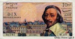 10 Nouveaux Francs RICHELIEU FRANCE  1961 F.57.15 pr.SUP