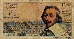 10 Nouveaux Francs RICHELIEU FRANCE  1962 F.57.17 B