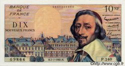 10 Nouveaux Francs RICHELIEU FRANCE  1962 F.57.20 SUP à SPL