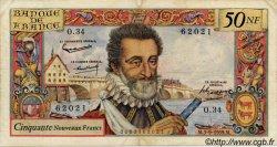 50 Nouveaux Francs HENRI IV FRANCE  1959 F.58.03 TB à TTB