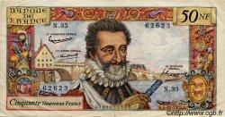 50 Nouveaux Francs HENRI IV FRANCE  1959 F.58.04 pr.TTB