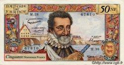 50 Nouveaux Francs HENRI IV FRANCE  1959 F.58.04 SUP+ à SPL