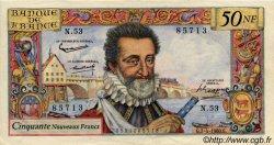 50 Nouveaux Francs HENRI IV FRANCE  1960 F.58.05 SUP