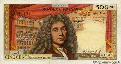 500 Nouveaux Francs MOLIÈRE FRANCE  1960 F.60.02 TB+