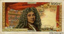 500 Nouveaux Francs MOLIÈRE FRANCE  1963 F.60.05 B+ à TB