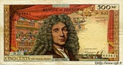 500 Nouveaux Francs MOLIÈRE FRANCE  1965 F.60.08 pr.TB