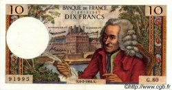 10 Francs VOLTAIRE FRANCE  1964 F.62.08 SUP+
