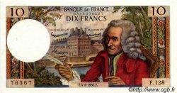 10 Francs VOLTAIRE FRANCE  1965 F.62.13 pr.SPL