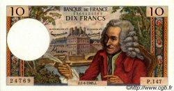 10 Francs VOLTAIRE FRANCE  1965 F.62.14 SUP à SPL