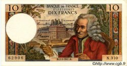 10 Francs VOLTAIRE FRANCE  1967 F.62.25 SUP+