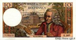 10 Francs VOLTAIRE FRANCE  1967 F.62.30 SUP à SPL