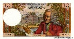 10 Francs VOLTAIRE FRANCE  1968 F.62.33 SUP+ à SPL