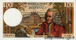 10 Francs VOLTAIRE FRANCE  1968 F.62.34 SUP+ à SPL