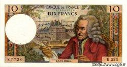 10 Francs VOLTAIRE FRANCE  1969 F.62.40 SUP+