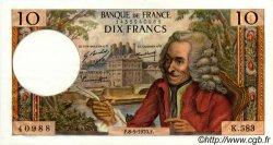 10 Francs VOLTAIRE FRANCE  1970 F.62.44 SUP+