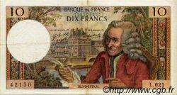 10 Francs VOLTAIRE FRANCE  1970 F.62.46 TTB+