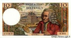 10 Francs VOLTAIRE FRANCE  1971 F.62.50 SUP+ à SPL