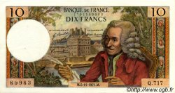 10 Francs VOLTAIRE FRANCE  1971 F.62.52 SUP