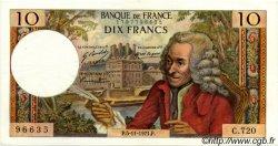 10 Francs VOLTAIRE FRANCE  1971 F.62.52 SUP