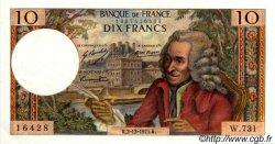 10 Francs VOLTAIRE FRANCE  1971 F.62.53 SUP à SPL