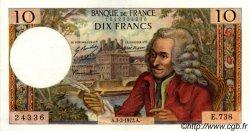 10 Francs VOLTAIRE FRANCE  1972 F.62.54 SUP+ à SPL
