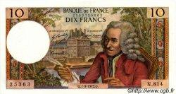10 Francs VOLTAIRE FRANCE  1972 F.62.58 SUP+ à SPL