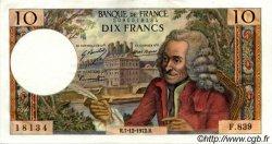 10 Francs VOLTAIRE FRANCE  1972 F.62.59 SUP à SPL