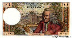 10 Francs VOLTAIRE FRANCE  1972 F.62.59 SUP+ à SPL