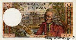 10 Francs VOLTAIRE FRANCE  1973 F.62.63 pr.NEUF