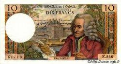 10 Francs VOLTAIRE FRANCE  1973 F.62.65 pr.SPL