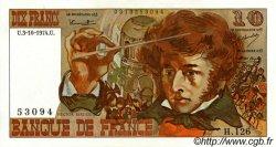 10 Francs BERLIOZ FRANCE  1974 F.63.07b SPL+