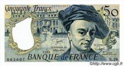 50 Francs QUENTIN DE LA TOUR FRANCE  1982 F.67.08 SPL+