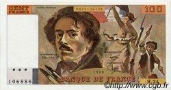 100 Francs DELACROIX modifié FRANCE  1980 F.69.04a pr.SPL