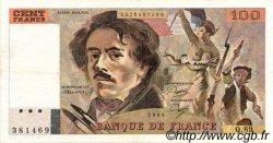 100 Francs DELACROIX modifié FRANCE  1984 F.69.08b TTB