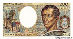 200 Francs MONTESQUIEU FRANCE  1989 F.70.09 pr.NEUF